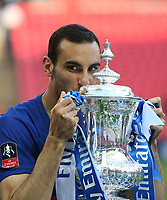 Chelsea's Davide Zappacosta with the trophy<br /> <br /> Photographer Rob Newell/CameraSport<br /> <br /> Emirates FA Cup Final - Chelsea v Manchester United - Saturday 19th May 2018 - Wembley Stadium - London<br />  <br /> World Copyright &copy; 2018 CameraSport. All rights reserved. 43 Linden Ave. Countesthorpe. Leicester. England. LE8 5PG - Tel: +44 (0) 116 277 4147 - admin@camerasport.com - www.camerasport.com
