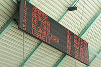 SCHAATSEN: HEERENVEEN: 25-10-2013, IJsstadion Thialf, NK afstanden, scorebord, uitslag 5000m mannen, ©foto Martin de Jong