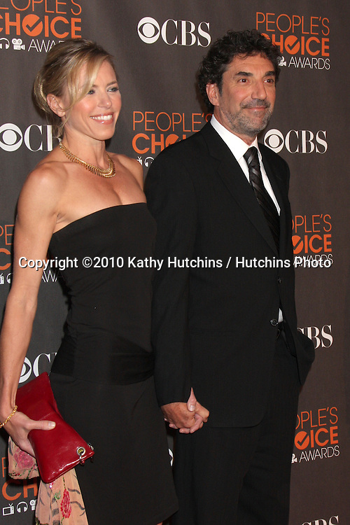 Chuck Lorre & Wife.arriving  at the 2010 People's Choice Awards.Nokia Theater.January 6, 2010.©2010 Kathy Hutchins / Hutchins Photo.