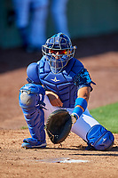 Ramon Rodriguez (7) of the Ogden Raptors before the game against the Idaho Falls Chukars at Lindquist Field on August 9, 2019 in Ogden, Utah. The Raptors defeated the Chukars 8-3. (Stephen Smith/Four Seam Images)