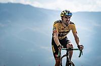 Tom Dumoulin (NED/Jumbo-Visma) up the finish climb & the highest peak of the 2020 #TdF: the Col de la Loze (HC/2304m/21,5km @7,8%)<br /> <br /> Stage 17 from Grenoble to Méribel - Col de la Loze (170km)<br /> <br /> 107th Tour de France 2020 (2.UWT)<br /> (the 'postponed edition' held in september)<br /> <br /> ©kramon