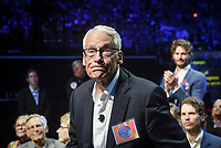 NWA Democrat-Gazette/CHARLIE KAIJO Rob Walton stands up for recognition during the Walmart shareholders meeting, Friday, June 7, 2019 at the Bud Walton Arena in Fayetteville.