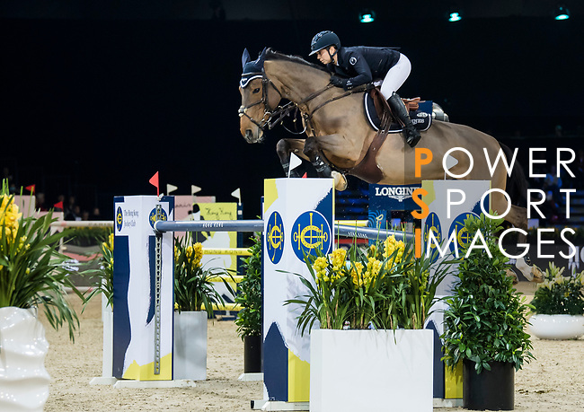 Jane Richard Philips of Switzerland riding Foica van den Bisschop competes in the Longines Grand Prix during the Longines Masters of Hong Kong at AsiaWorld-Expo on 11 February 2018, in Hong Kong, Hong Kong. Photo by Diego Gonzalez / Power Sport Images