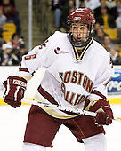Tim Kunes (Boston College - Huntington, NY) - The Boston College Eagles defeated the Harvard University Crimson 3-1 in the first round of the 2007 Beanpot Tournament on Monday, February 5, 2007, at the TD Banknorth Garden in Boston, Massachusetts.  The first Beanpot Tournament was played in December 1952 with the scheduling moved to the first two Mondays of February in its sixth year.  The tournament is played between Boston College, Boston University, Harvard University and Northeastern University with the first round matchups alternating each year.