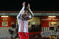 Jack King of Stevenage thanks the fans during Stevenage vs Notts County, Sky Bet EFL League 2 Football at the Lamex Stadium on 11th November 2017