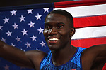Kerron CLEMENT (USA) celebrates his third place in the mens 400m hurdles final. IAAF world athletics championships. London Olympic stadium. Queen Elizabeth Olympic park. Stratford. London. UK. 09/08/2017. ~ MANDATORY CREDIT Garry Bowden/SIPPA - NO UNAUTHORISED USE - +44 7837 394578
