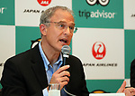 "September 11, 2017, Tokyo, Japan - World's largest travel site operator TripAdvisor president Stephen Kaupher speaks before press at the JAL headquarters in Tokyo on Monday, September 11, 2017. TripAdvisor and JAL announced a strategic partnership and JAL will launch a website of ""Untold Stories of Japan"" on the TripAdvisor website from October for the promotion of tourism in Japan. (Photo by Yoshio Tsunoda/AFLO) LWX -ytd-"