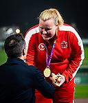 Lima, Peru -  27/August/2019 -  Jen Brown takes the gold medal in the women's discus F38 at the Parapan Am Games in Lima, Peru. Photo: Dave Holland/Canadian Paralympic Committee.