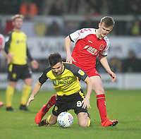 Fleetwood Town's Callum Connolly in action withBurton Albion's Kieran Wallace <br /> <br /> Photographer Mick Walker/CameraSport<br /> <br /> The EFL Sky Bet League One - Burton Albion v Fleetwood Town - Saturday 11th January 2020 - Pirelli Stadium - Burton upon Trent<br /> <br /> World Copyright © 2020 CameraSport. All rights reserved. 43 Linden Ave. Countesthorpe. Leicester. England. LE8 5PG - Tel: +44 (0) 116 277 4147 - admin@camerasport.com - www.camerasport.com