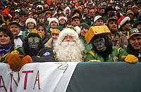Green Bay Packers fans at Lambeau Field during the December 22, 1996 game against the Minnesota Vikings. The Pack won the game 38-10.