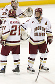 (Reasoner, Ferriero) Mike Brennan (BC - 4) - The Boston College Eagles defeated the visiting Northeastern University Huskies 7-1 on Friday, March 9, 2007, to win their Hockey East quarterfinals matchup in two games at Conte Forum in Chestnut Hill, Massachusetts.