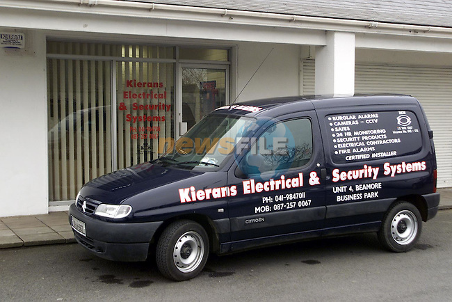 Kierans Electrical and Security Systems..Picture Paul Mohan Newsfile