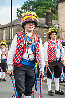 An image from the annual Saddleworth Rushcart event in Uppermill, Greater Manchester, UK on Saturday 26th August 2017.