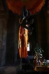 A statue of Hindu diety at Angkor Wat, Cambodia. June 7, 2013.