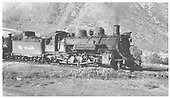 Right side view of K-37 #497.<br /> D&amp;RGW  Durango, CO  8/30/1956