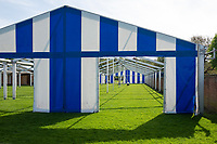 Henley on Thames. United Kingdom.   2018 Henley Royal Regatta, Henley Reach. <br />   <br /> Front and rear Entrance canvas panels in place of the boat tent.  Course Construction<br /> <br /> Thursday  03/05/2018<br /> <br /> [Mandatory Credit: Peter SPURRIER:Intersport Images]<br /> <br /> LEICA CAMERA AG  LEICA Q (Typ 116)  f5.6  1/500sec  35mm  42.5MB
