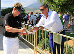 Luke Donald (ENG) signs autographs after winning his match 3and1 during the afternoon session on Day 2 of the Volvo World Match Play Championship in Finca Cortesin, Casares, Spain, 20th May 2011. (Photo Eoin Clarke/Golffile 2011)