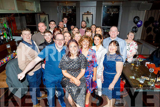 Michelle Buckley (seated centre) from Abbeydorney celebrating her 30th birthday in the Fiddler Bar on Saturday.