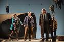 London, UK. 05.03.2013. English Touring Theatre's production of THE SIEGE OF CALAIS by Donizetti, opens at Hackney Empire, prior to touring. Picture shows: Paula Sides (Eleonora), Helen Sherman (Aurelio), Eddie Wade (Eustachio). Andrew Glover (Giovanni d'Aire, Burgher). Photo credit: Jane Hobson..