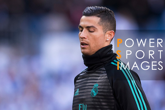 Cristiano Ronaldo of Real Madrid warms up prior to the La Liga 2017-18 match between Real Madrid and FC Barcelona at Santiago Bernabeu Stadium on December 23 2017 in Madrid, Spain. Photo by Diego Gonzalez / Power Sport Images