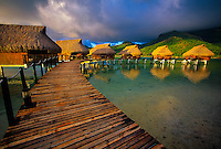Overwater bungalows, Sofitel Heiva Resort, Huahine, French Polynesia