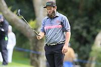 Andrew Johnston (ENG) lines up his putt on the 10th green during Friday's storm delayed Round 2 of the Andalucia Valderrama Masters 2018 hosted by the Sergio Foundation, held at Real Golf de Valderrama, Sotogrande, San Roque, Spain. 19th October 2018.<br /> Picture: Eoin Clarke | Golffile<br /> <br /> <br /> All photos usage must carry mandatory copyright credit (&copy; Golffile | Eoin Clarke)
