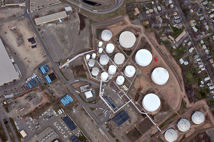 Motiva Enterprises Terminal Operations New Haven Harbor, Connecticut.  Aerial Views Of Terminal, Storage