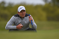 Francesco Molinari (ITA) lines up his birdie attempt on 1 during day 5 of the WGC Dell Match Play, at the Austin Country Club, Austin, Texas, USA. 3/31/2019.<br /> Picture: Golffile | Ken Murray<br /> <br /> <br /> All photo usage must carry mandatory copyright credit (&copy; Golffile | Ken Murray)