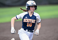 NWA Democrat-Gazette/CHARLIE KAIJO Rogers Heritage High School Paige Morrall (10) scores during the 6A State Softball Tournament, Thursday, May 9, 2019 at Tiger Athletic Complex at Bentonville High School in Bentonville. Rogers Heritage High School lost to Northside High School 8-6