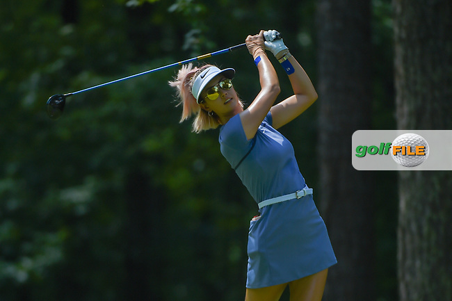Michelle Wie (USA) watches her tee shot on 2 during round 3 of the U.S. Women's Open Championship, Shoal Creek Country Club, at Birmingham, Alabama, USA. 6/2/2018.<br /> Picture: Golffile | Ken Murray<br /> <br /> All photo usage must carry mandatory copyright credit (© Golffile | Ken Murray)