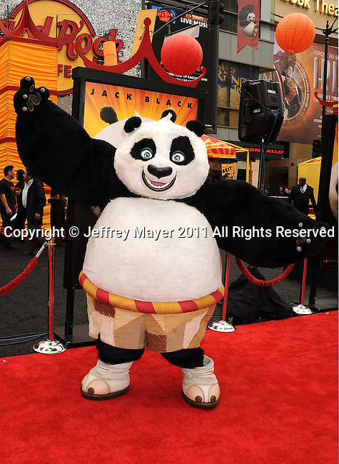 "HOLLYWOOD, CA - MAY 22: Panda arrives at the Los Angeles premiere of ""Kung Fu Panda 2"" held at Grauman's Chinese Theatre on May 22, 2011 in Hollywood, California."