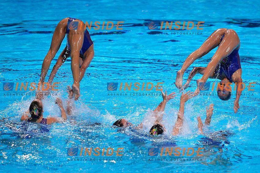 Switzerland <br /> Synchronized Swimming Team Equipe Nuoto Sincronizzato  <br /> Barcellona 26/7/2013 Palau St Jordi <br /> Barcelona 2013 15 Fina World Championships Aquatics <br /> Foto Andrea Staccioli Insidefoto