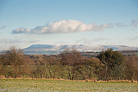 View looking towards Pendle Hill from Little Bowland Road, Chipping, Lancashire.