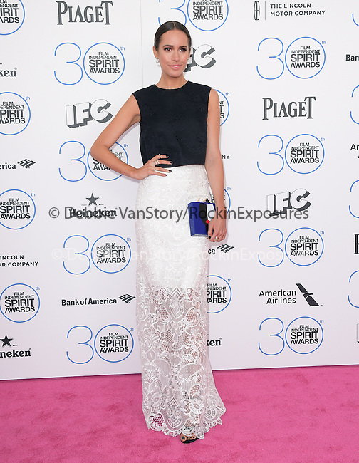 Louise Roe<br /> <br /> <br /> <br />  attends 2015 Film Independent Spirit Awards held at Santa Monica Beach in Santa Monica, California on February 21,2015                                                                               © 2015Hollywood Press Agency
