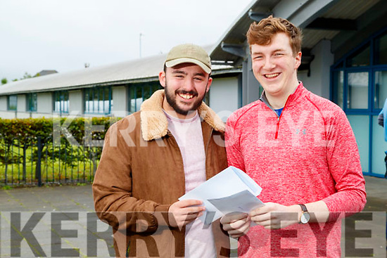 Cathal Sheehan (Banna) and Richard Williams (Tralee), Mercy Mounthawk Secondary School, Tralee, who received their Leaving Certificate results on Tuesday morning last.