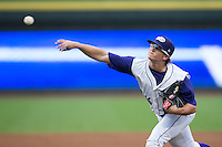 Winston-Salem Dash starting pitcher Carson Fulmer (16) delivers a pitch to the plate against the Carolina Mudcats at BB&T Ballpark on July 23, 2015 in Winston-Salem, North Carolina.  The Dash defeated the Mudcats 3-2.  (Brian Westerholt/Four Seam Images)