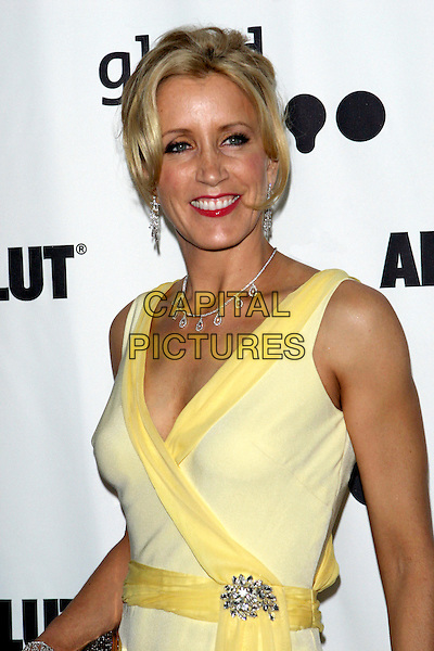FELICITY HUFFMAN.The 16th Annual GLAAD Media Awards held at the Kodak Theatre..April 30th, 2005.Photo Credit: Jacqui Wong/AdMedia.half length diamond necklace yellow dress brooch clasp criss cross .www.capitalpictures.com.sales@capitalpictures.com.© Capital Pictures.
