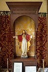 Sacred heart of Jesus statue, Church of Saint Mary, Kettlebaston, Suffolk, England, UK
