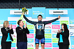 Harry Tanfield Bike Channel Canyon wins the day's combativity prize, on the podium at the end of Stage 2 of the Tour de Yorkshire 2017 running 122.5km from Tadcaster to Harrogate, England. 29th April 2017. <br /> Picture: ASO/A.Broadway | Cyclefile<br /> <br /> <br /> All photos usage must carry mandatory copyright credit (&copy; Cyclefile | ASO/A.Broadway)