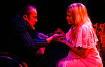 THE CHANGELING by Middleton adapted by McIntyre;<br /> Karina Jones as Beatrice-Joanna;<br /> David Toole as De Flores;<br /> Directed by Sealey;<br /> Graeae Theatre Company;<br /> at the Phoenix Theatre, Exeter, UK;<br /> 11 October 2001;<br /> Credit: Patrick Baldwin;