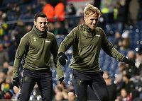 Leeds United's Samu Saiz  &amp; Jack Harrison during the pre-match warm-up <br /> <br /> Photographer David Shipman/CameraSport<br /> <br /> The EFL Sky Bet Championship - West Bromwich Albion v Leeds United - Saturday 10th November 2018 - The Hawthorns - West Bromwich<br /> <br /> World Copyright &copy; 2018 CameraSport. All rights reserved. 43 Linden Ave. Countesthorpe. Leicester. England. LE8 5PG - Tel: +44 (0) 116 277 4147 - admin@camerasport.com - www.camerasport.com
