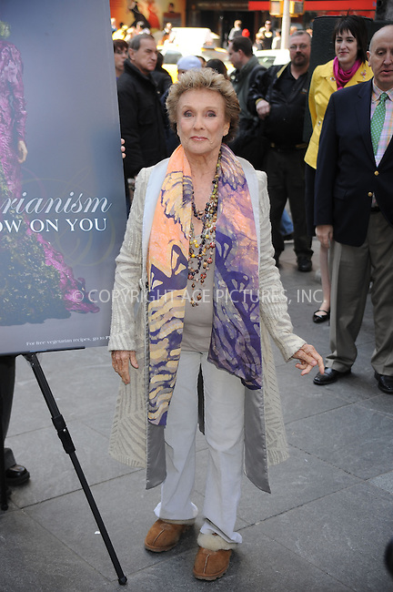 WWW.ACEPIXS.COM..March 31 2009, New York City..Cloris Leachman reveals the new PETA ad in Times Square on March 31, 2009 in New York City...Please byline: Kristin Callahan - ACEPIXS.COM...*** ***...Ace Pictures, Inc.tel: (212) 243 8787.e-mail: info@acepixs.com.web: http://www.acepixs.com..© 2009 Kristin Callahan/ACE Pictures.
