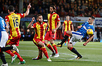 Lee Wallace has a shot which rebounds
