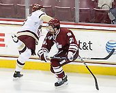 Philip Samuelsson (BC - 5), Marc Concannon (UMass - 21) - The Boston College Eagles defeated the University of Massachusetts-Amherst Minutemen 5-2 on Saturday, March 13, 2010, at Conte Forum in Chestnut Hill, Massachusetts, to sweep their Hockey East Quarterfinals matchup.