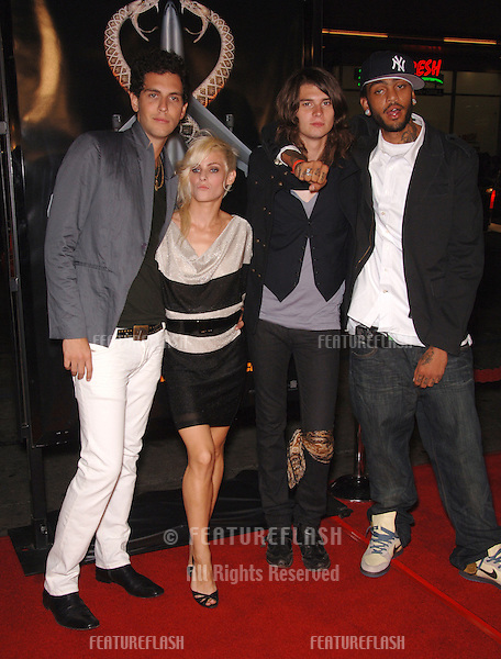 "Pop group COBRA STARSHIP at the Los Angeles premiere of ""Snakes on a Plane"" at the Chinese Theatre, Hollywood..August 17, 2006  Los Angeles, CA.© 2006 Paul Smith / Featureflash"