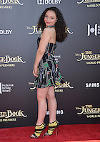 LOS ANGELES, CA. April 4, 2016. Actress Kayla Maisonet at the world premiere of &quot;The Jungle Book&quot; at the El Capitan Theatre, Hollywood.<br /> Picture: Paul Smith / Featureflash