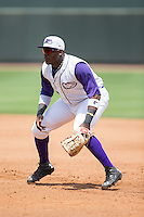 Winston-Salem Dash first baseman Telvin Nash (20) on defense against the Wilmington Blue Rocks at BB&T Ballpark on June 26, 2016 in Winston-Salem, North Carolina.  The Dash defeated the Blue Rocks 5-1.  (Brian Westerholt/Four Seam Images)
