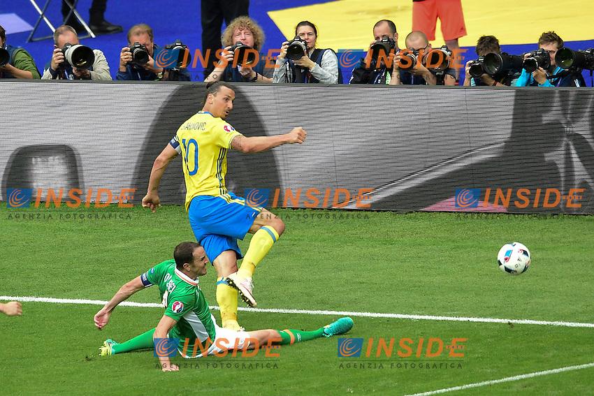 Gol Zlatan IBRAHIMOVIC (swe) Goal <br /> Paris 13-06-2016 Stade de France Football Euro2016 Ireland - Sweden / Irlanda - Svezia Group Stage Group E. Foto JB Autissier Panoramic / Insidefoto