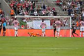 02.08.2015. Cologne, Germany. Pre Season Tournament. Colonia Cup. FC PorBrahimi sends Stoke sub keeper, Daniel Gyollai, the wrong way from the spot. Porto lead 3-0.
