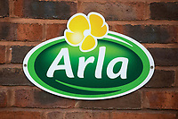 Arla sign on a dairy farm<br /> &copy;Tim Scrivener Photographer 07850 303986<br />      ....Covering Agriculture In The UK....